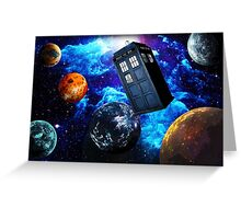 Doctor Who Space Greeting Card