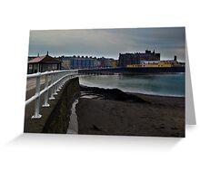 Aberwyswyth railings Greeting Card
