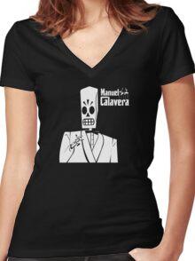 Godfather Manuel Calavera Women's Fitted V-Neck T-Shirt