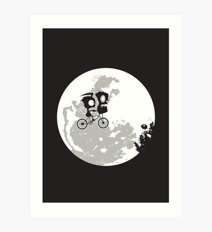 Dib and the E.T Art Print