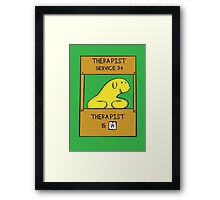 Hand Bananas Therapist Service Framed Print
