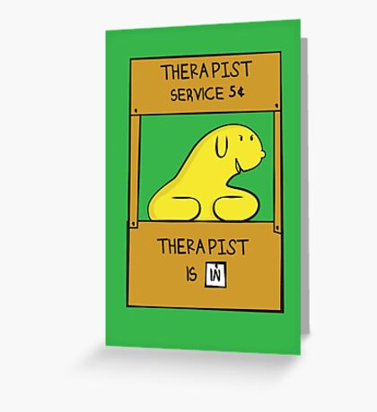 Hand Bananas Therapist Service Greeting Card