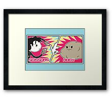 Scissors Vs Rock Framed Print