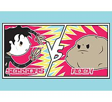 Scissors Vs Rock Photographic Print