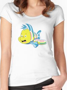 Flounder Sushi Women's Fitted Scoop T-Shirt