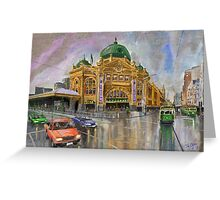 Flinders Street Station, Melbourne, Australia Greeting Card