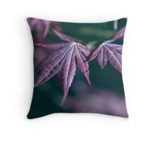 Japanese Maple with Frost Throw Pillow
