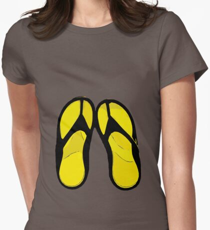 Flip Flops Womens Fitted T-Shirt