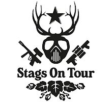 Stags On Tour - Stag Do Paint balling T-Shirt by springwoodbooks