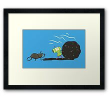 Dung Roller Katamari Framed Print