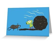 Dung Roller Katamari Greeting Card