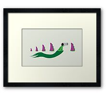 Evolution of Purple Tentacle Green Ooze Framed Print