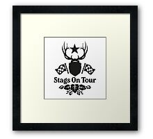 Stags On Tour - Stag Do - Karting T-Shirt Framed Print
