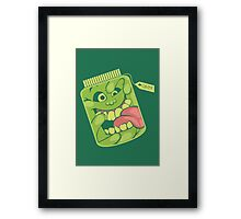 Slimer in a Jar Framed Print