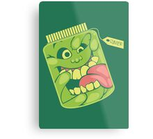 Slimer in a Jar Metal Print