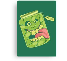 Slimer in a Jar Canvas Print