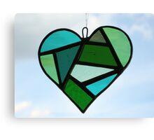 """Love Heart """"Greens"""" Canvas Print"""