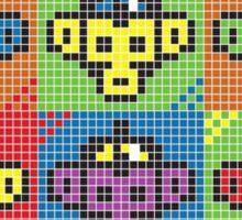 Monkey Blista Pattern Mosaic Sticker