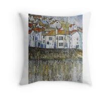 Cod and Lobster, Staithes Throw Pillow