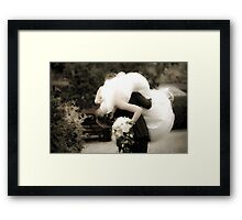 Carry me over the threshold Framed Print