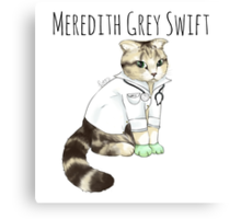 Doctor Meredith Grey Swift Canvas Print