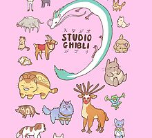 Animals of Studio Ghibli by Steph Hodges