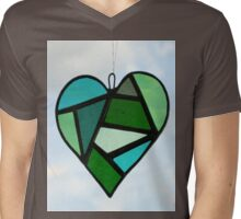 "Love Heart ""Greens"" Mens V-Neck T-Shirt"