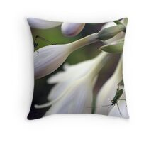 Hosta Inhabitants Throw Pillow