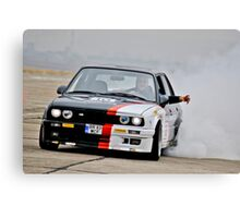 E30 Burnout! Canvas Print