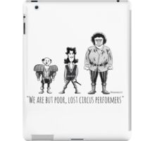 Poor, Lost Circus Performers iPad Case/Skin
