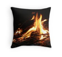 Glastonbury Campfire Throw Pillow