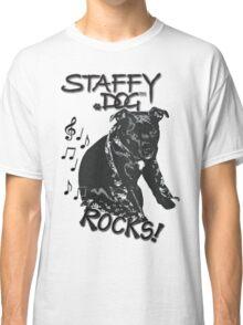 Staffy Dog Rocks! Classic T-Shirt