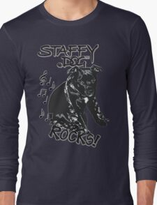 Staffy Dog Rocks! Long Sleeve T-Shirt