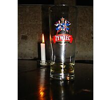 Candlelit Beer Photographic Print