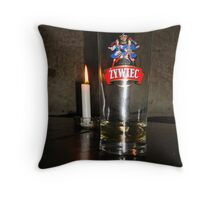 Candlelit Beer Throw Pillow