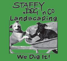 Staffy Dog n Co Landscaping. Kids Clothes