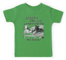 Staffy Dog n Co Landscaping. Kids Tee