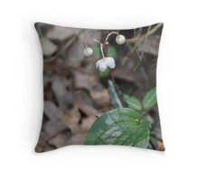 Spotted Wintergreen Throw Pillow