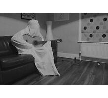 Guitar Ghost Photographic Print