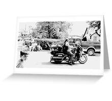 Biker in Parade Greeting Card
