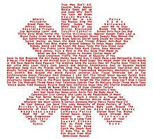 Red Hot Chili Peppers Songs Photographic Print