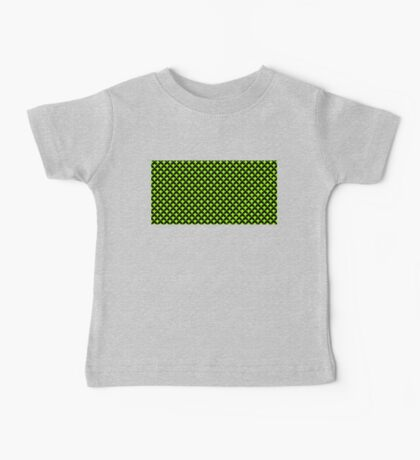 geometric abstract pattern green black background Baby Tee