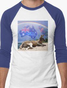 Kangaroo and Lorikeet Men's Baseball ¾ T-Shirt