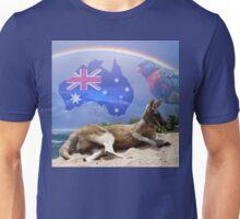Kangaroo and Lorikeet Unisex T-Shirt
