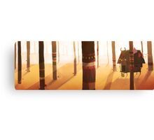 forest cabin Canvas Print