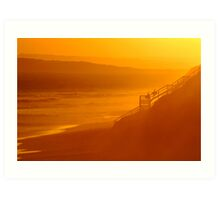 End of Day 13th Beach Art Print