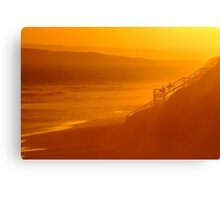 End of Day 13th Beach Canvas Print