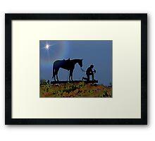 The Cowboys Church Framed Print