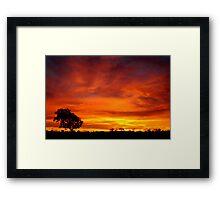 Sunrise, Batton Hill,Simpson Desert,N.T.  Framed Print