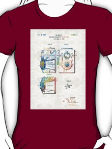Vintage Camera Art - Twin Lens - By Sharon Cummings  T-Shirt